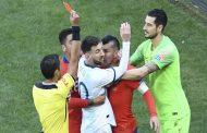 Le carton rouge pour Messi lors du match entre l'argentine et le chili