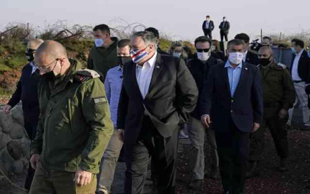 Manifestation acharnée des Palestiniens contre la visite controversée de Pompeo au Golan