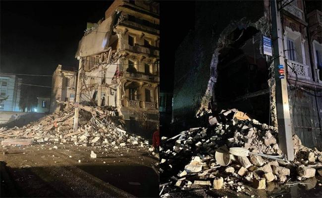Effondrement partiel d'un immeuble à Oran, aucune perte humaine