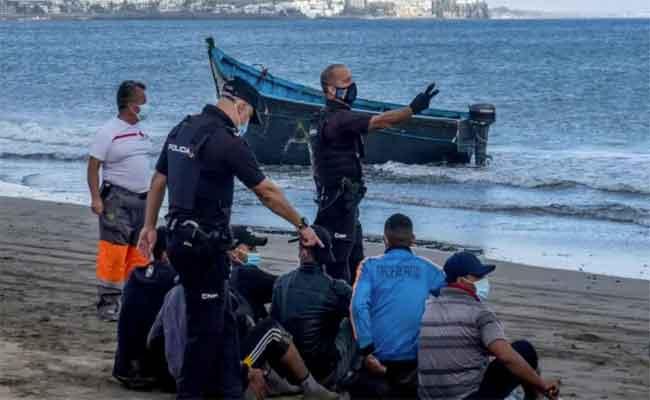 Immigration clandestine : Près de 100 algériens interceptés en Espagne