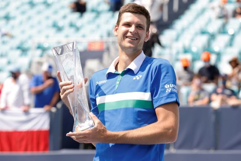 Tennis : Le Polonais Hurkacz remporte le titre à l'Open de Miami